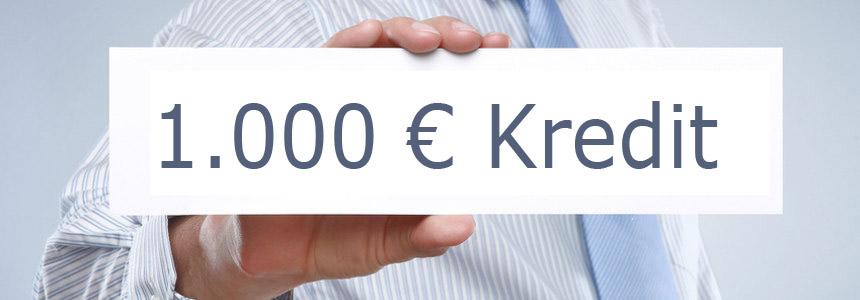 1.000 Euro Kredit aufnehmen