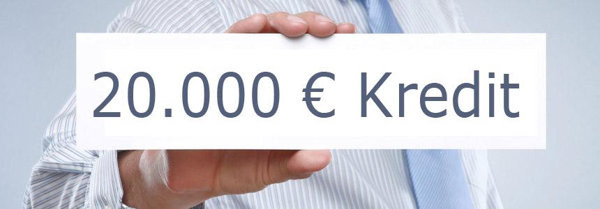 20.000 Euro Kredit aufnehmen