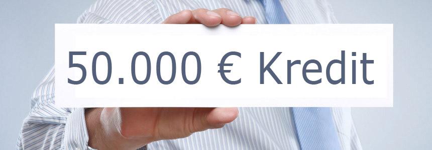 50.000 Euro Kredit aufnehmen